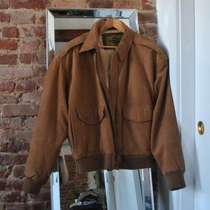 Other - GLOBAL IDENTITY 🌎 BROWN LEATHER JACKET